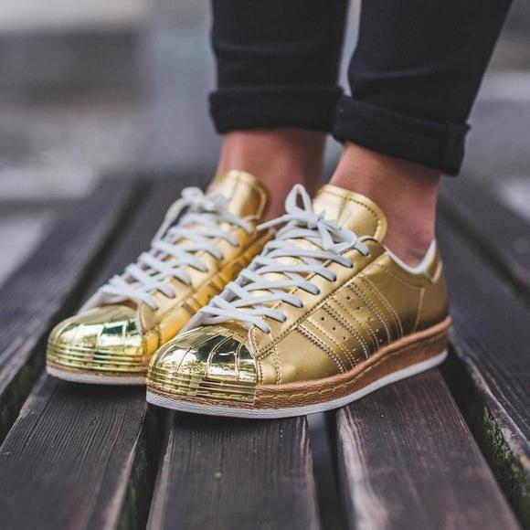 Rare Adidas metalico pack 80 Gold Superstar poshmark